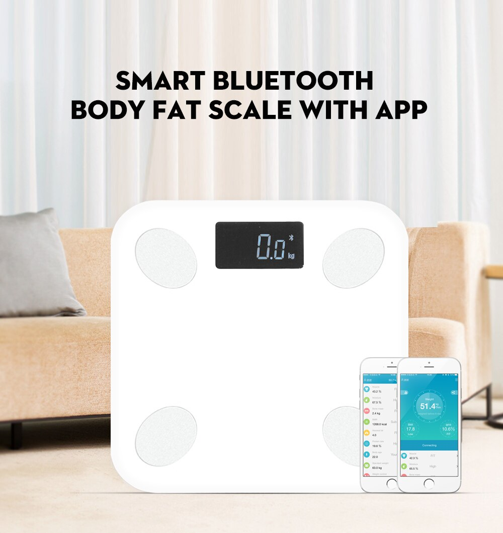 Smart Bathroom Scale With Free App